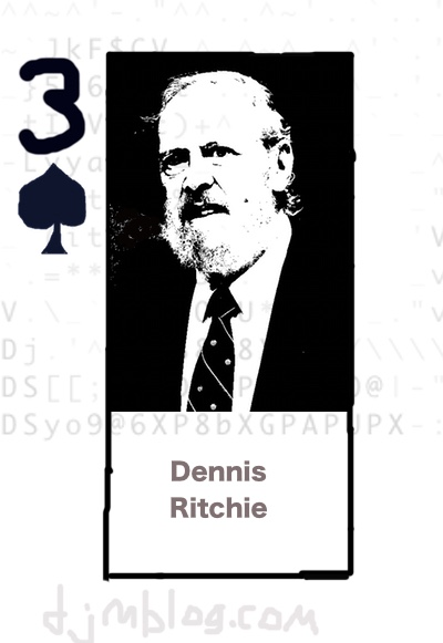 Dennis Ritchie playing card